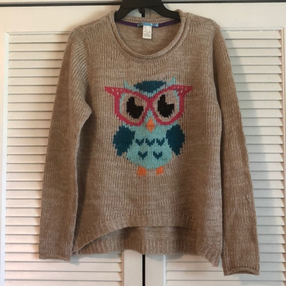 Hipster Owl Sweater size L